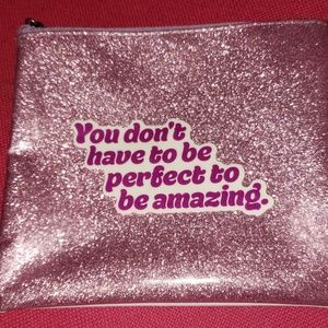 Lavender sparkly glitter makeup case cosmetic bag